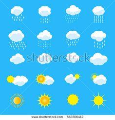 Clouds icons vector set - clip art Gallery illustrations 2018 Spring  cloud computing, sky, sky clouds, cloud vector, technology cloud, cloud icon, clouds isolated, cloud background, cloud logo, smoking, rainbow, flat design.