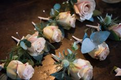 Buttonholes and corsages - very pretty