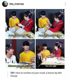 How to confess to your crush by Min Yoongi