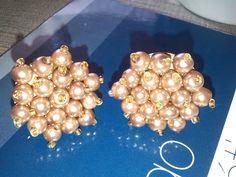 TUTORIAL Aretes de chapa y perlas