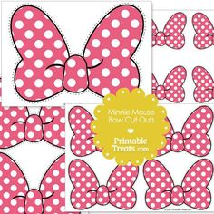 Pink Minnie Mouse Bow Cut Outs from PrintableTreats.com