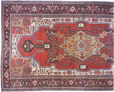 "Persian: Geometric 26' 5"" x 15' 0"" Antique Serapi at Persian Gallery New York - Antique Decorative Carpets & Period Tapestries"