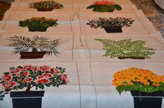 Vintage Tampella Fabric 1978 Squares Floral 8 Pieces Quilt Botanical Cotton   eBay