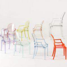 Lou Lou Ghost kids chair in polycarbonate - ARREDACLICK