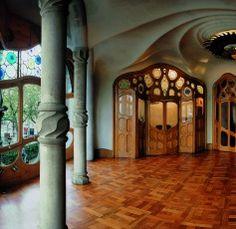 More Gaudi.  I will visit   Spain just to see these beautiful buildings.   Gauf