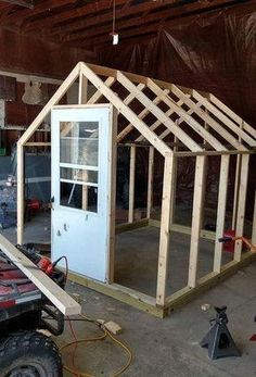 Selection of Style for your DIY Greenhouse - Are you planning to construct a backyard greenhouse? It is really not a difficult thing to do, but for this you must have some good plan to build on. Diy Greenhouse Plans, Outdoor Greenhouse, Cheap Greenhouse, Greenhouse Gardening, Greenhouse Wedding, Homemade Greenhouse, Mini Greenhouse, Modern Greenhouses, Greenhouse Interiors
