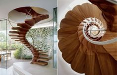 Amazing staircases resembling the inside of a shell