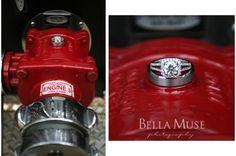 Wedding rings, #wedding #rings #firetruck #firefighter #fireman © Bella Muse | www.Bella-Muse.com