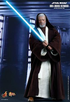 Obi-Wan Kenobi (Alec Guinness) em Star Wars Episódio IV – Action Figure Perfeita Hot Toys Star Wars