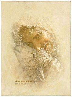"""spiritually powerful art """"This art work by Yongsung Kim is remarkable! I can see his faith transmitted onto canvas through his delicate brush strokes and selective views of Christ and His lif… Pictures Of Jesus Christ, Jesus Christ Images, Jesus Pastor, Site Art, Christian Artwork, Christian Artist, Jesus Christus, Jesus Painting, Saint Esprit"""