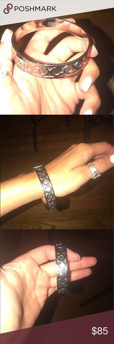 Coach bracelet Silver Coach bracelet. Excellent condition! Never worn! ❤️ Coach Jewelry Bracelets