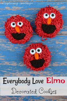 These Easy to make Elmo Decorated Cookies are perfect for kids parties, holiday favors and anytime fun. See our easy step by step guide to get started.
