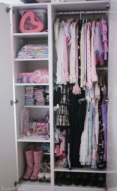 Pastel goth closet uploaded by Nyx Valentine on We Heart It Goth Bedroom, Pastel Bedroom, Bedroom Decor, My New Room, My Room, Girl Room, Cute Room Ideas, Cute Room Decor, Girl Bedroom Designs