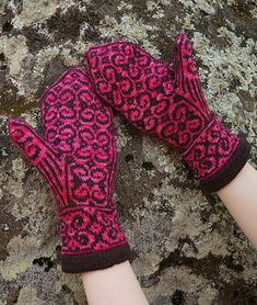The Empress Mittens were designed to match The Emperor's Bride Socks. The aim was to create a stranded colorwork design for us with shorter fingers and preference to snug fitting mittens. Fingerless Mittens, Knit Mittens, Mitten Gloves, Velvet Lipstick, Vogue Knitting, Fair Isle Knitting, Hand Warmers, Knitting Patterns, Knitting Ideas