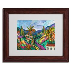 Swept Slopes by Manor Shadian Matted Framed Painting Print
