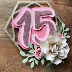 Fondant Wedding Cakes, Floral Wedding Cakes, Floral Cake, Fondant Cupcakes, Purple Wedding, Gold Wedding, Diy Cake Topper, Birthday Cake Toppers, Cupcake Toppers