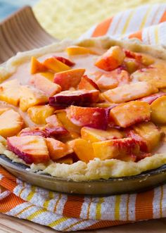 Summer Peach Pie + crust how-to video Check this out at http://porkrecipe.org/posts/Summer-Peach-Pie-crust-how-to-video-56410