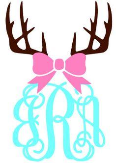 Monogrammed Antlers