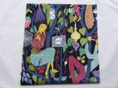 Stig Lindberg DIY cushion fabric 100 % linen - Melodi 1950s Scandinavian design