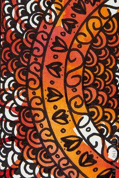 Circular Laranja - Background e Wallpaper criados por Carol Delleteze. Desenhos originais, únicos, feitos a mão disponíveis para download.  #caroldelleteze #background #wallpaper #desenholudico #arte #art #handmade #illustration #pattern #circular #circle #laranja