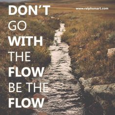 Don't GO with the flow BE the flow — Infinite Waters (Diving Deep)