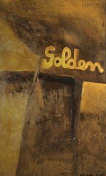 Colin McCahon - Auckland Art Gallery  Golden, 1959 Auckland Art Gallery, Ellsworth Kelly, New Zealand Art, Nz Art, Venice Biennale, Modern Masters, Artist Art, American Artists, Visual Identity