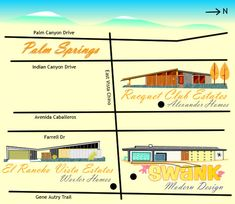 MCM Palm Springs Home Show map
