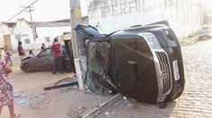 Blog Paulo Benjeri Notícias: Jovem perde controle de veículo em Mirandiba-PE