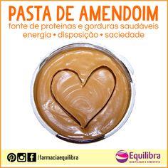 ➡ A pasta de amendoim possui uma boa quantidade de proteínas e gorduras boas, vitaminas A e E, cálcio, magnésio, zinco, antioxidantes e outros nutrientes. É um ótimo alimento para auxiliar no ganho de massa muscular (hipertrofia)... Saiba mais: http://instagram.com/p/xw-2ennHRM/?modal=true  #pastadeamendoim #amendoim #saúde