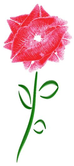 """""""Two""""Lips~ Fun Art idea for Valentine's Day card - all you need is a marker, some paper, lipstick and your lips!"""