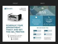 Print Mailing/Flyer Kampagne f眉r B2B Kostenoptimierung und gratis Drucker by Hrvoje Milicevic