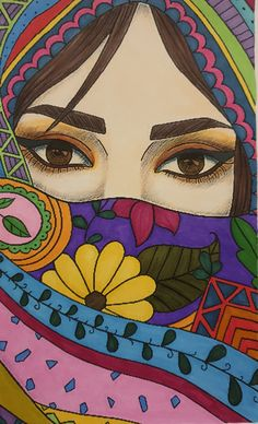 African Art Paintings, Art Painting Gallery, Indian Folk Art, Art Drawings Sketches Simple, Arte Pop, Whimsical Art, Illustration, Faces, Antalya