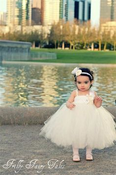 Flower girl tutu w/vintage twist