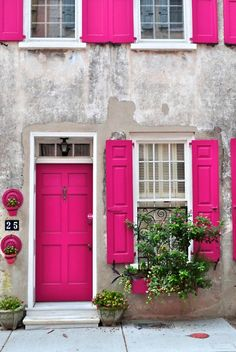 Front Doors : Cool Bright Green Front Door 122 Bright Yellow Front Doors A Pink Door Impressive Bright Green Front Door. Lime Green Front Door Meaning. Best Lime Green Paint Color For Front Door. The Doors, Windows And Doors, Front Doors, Sash Windows, Front Porch, Pink Houses, Dream Houses, Everything Pink, Belle Photo