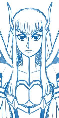 Kill la Kill Satsuki bookmark sketch