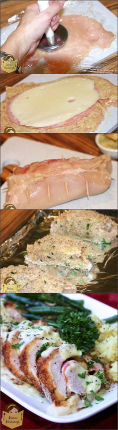 Chicken Cordon Bleu with step-by-step photos.