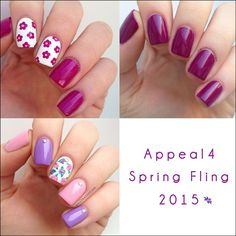 """Work done by """" nailthatdesign """" on Instagram  """"I just finished a blog post for my Danish readers - it's about @appeal4s Spring Fling collection  honestly there's more nail art than swatches, but I'm…"""""""