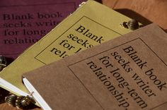 Blank Book Seeks Writer Handbound Letterpress Journal from Headcase Press