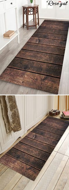Up to 75% off. Free shipping worldwide.Stripe Planks Pattern Indoor Outdoor Area Rug - Deep Brown.#homedecor #bath #rug #homestyle made#home#ideas ug#ideas