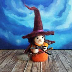 Witch Doll  Halloween Toy  Halloween Doll  by ClaudiaNanniFineArt