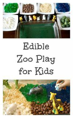 Edible Zoo Play for Kids