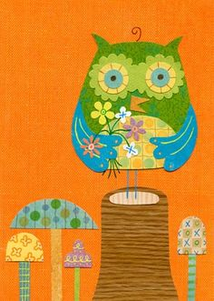 """""""Very Fun Guy"""" wall decor for children by Linda Solovic for Oopsy Daisy, Fine Art for Kids $59"""