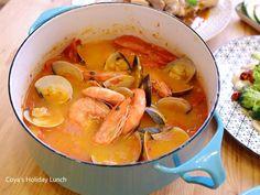 蕃茄海鮮湯-番茄控的最愛食譜、作法 | 滿分人妻Coya's Holiday Lunch的多多開伙食譜分享