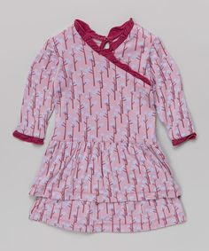 Look at this Lavender Snow Tree Drop-Waist Dress - Infant