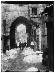 This is Jersalem with snow.  1920s, I think.
