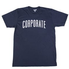 Corporate Arch Tee SS17 (Navy/White) - $32