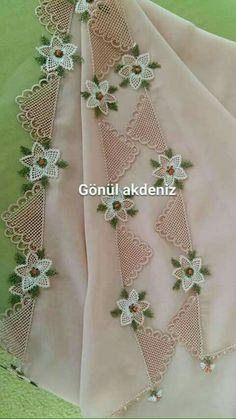 This Pin was discovered by Şaz Hand Embroidery, Embroidery Designs, Lacemaking, Tatting Lace, Needle Lace, Diy And Crafts, Weaving, Clothes, Fashion