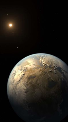 Kepler-186f ~ The first known Earth-size planet to lie within the habitable zone of a star beyond the Sun. Discovered using data from the prolific planet-hunting Kepler spacecraft, the distant world orbits its parent star, a cool, dim, M dwarf star about half the size and mass of the Sun, some 500 light-years away from us, in the constellation Cygnus. While the size and orbit of Kepler-186f are known, its mass and composition are not, and can't be determined by Kepler's transit technique. (N...