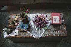 chest table // lace // floral // vintage // decor