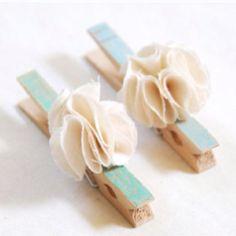 DIY fancy clothespins